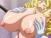 Caught hentai blondie gets fondled and tittyfucked